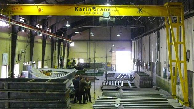 شرکت مهندسی کارین | جرثقیل نیم دروازه ای