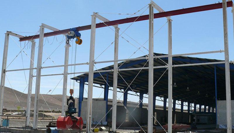 پروژه اجرا شده با استفاده از جرثقیل سقفی مونوریل